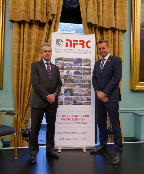 James Talman, CEO of NFRC, and Jon Vanstone, chair of the Competent Person Forum and Trade Association Forum who will be chairing the accreditation.