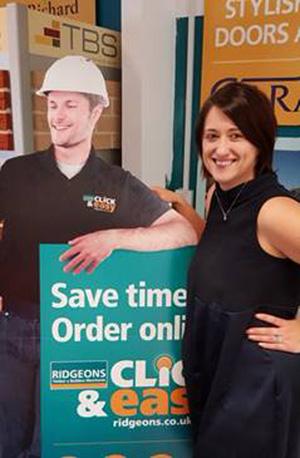 Karli Millard, branch manager of Ridgeons Newmarket.