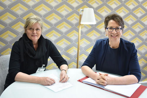 Left to right: Conservative MP, Anne Main, discussed how the construction industry can work with government to ensure industry safety with the BBA's chief executive, Claire Curtis-Thomas
