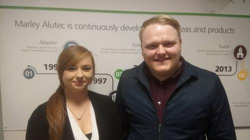 Kayleigh Bullock (left) Jamie Adams (right)