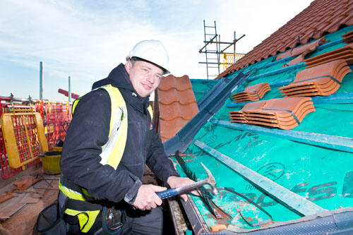 Roofing apprentice, Lewis, has been shortlisted for the Screwfix Trade Apprentice of the Year 2018 award
