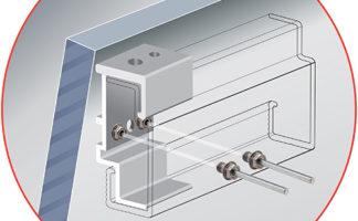 An illustration showing how the SFS TUF-S rivet provides a mechanical secret fix for rainscreen cladding panels.