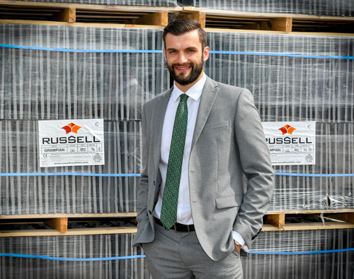 Daniel Hancox has been promoted to business support manager at Russell Roof Tiles.