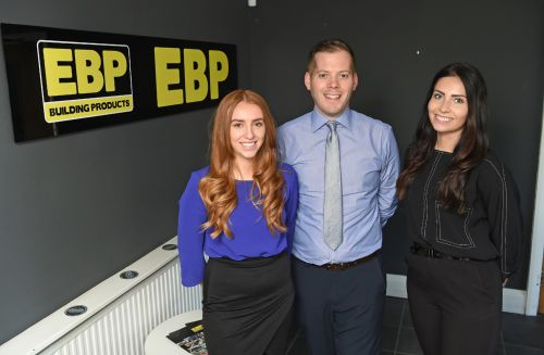 EBP's new sales and marketing team. L-r: Jess Brooke, Sam Brooke and Abbie Mosley