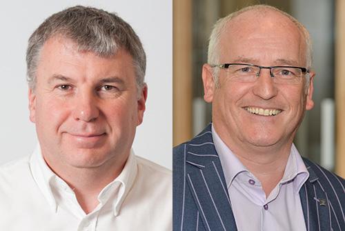 Martyn Holloway (left) and Tony Ferri