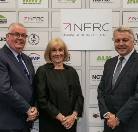 Left to right: Philip Fergusson, managing director of NCTS, Jayne Fergusson, operations director of NCTS, and Steve Reynolds, head of membership at the NFRC