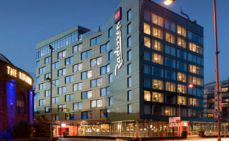 The new Radisson Red hotel in Glasgow, the building envelope for which was completed by Procladd (Scotland). Tom Manley Photography