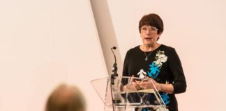 Dame Judith Hackitt addresses the audience at this year's CABE conference