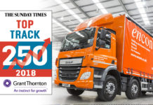 The Encon Group is celebrating another year of success after ranking 98th in the Sunday Times Grant Thornton Top Track 250 League Table