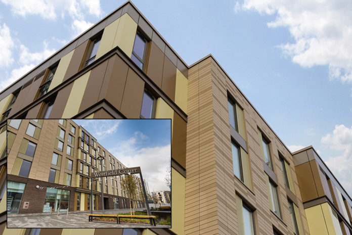 UPP's new Westfield Court student accommodation development at the University of Hull, the external envelope of which utilises the Nvelope NV1 rainscreen cladding support system.