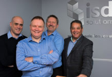 Left to right: Gareth Ross, Andy Moon, Adrian Smith and Tony Wall of ISD Solutions