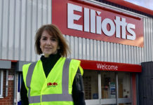 Lauren Haines is celebrating 45 years at Elliotts Builders Merchant