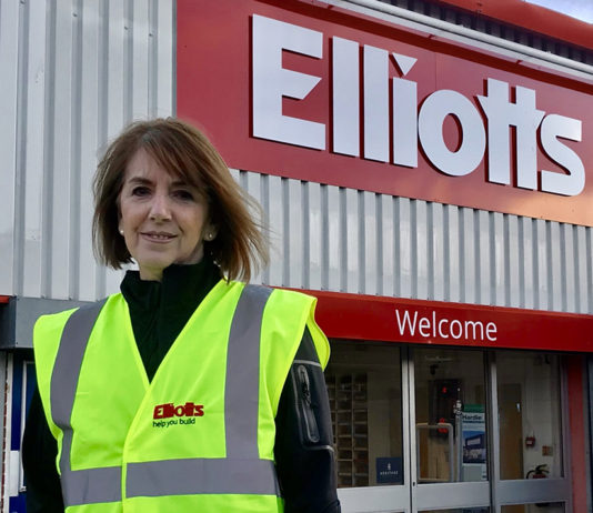 Lauren Haines is celebrating 45 years at Elliotts Builders Merchant