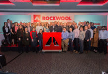 The ROCKWOOL team celebrate after scooping the Supplier of the Year award