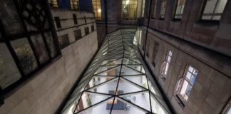 Senate House after the completion of its stunning multifaceted glass roof. Photo by Jefferson Smith.