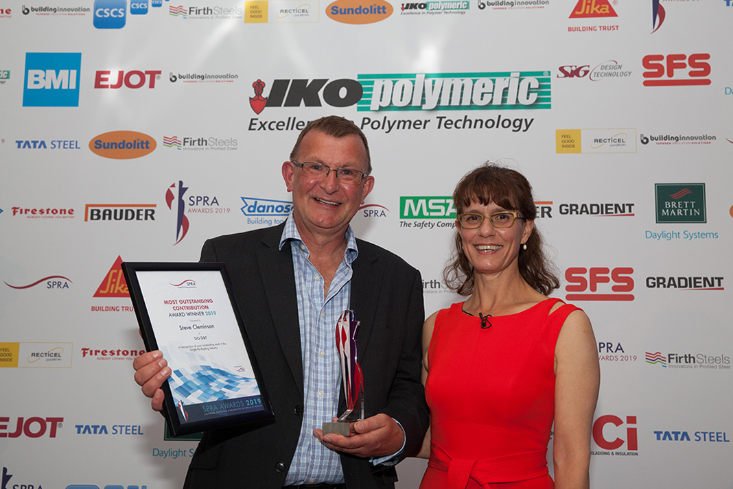 Steve Cleminson won the Outstanding Contribution award