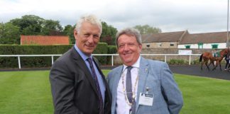 Martin-Brooks' John Elmore (right) is handed the NFRC regional chairmanship by predecessor, Gerald Parker