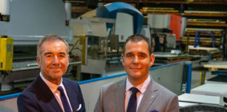 Vivalda chairman Peter Johnson (left) with managing director Ben Jayes at the MSP facility in Scotland