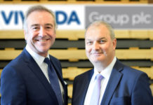 Peter Johnson (left) welcomes Chris Williams (right) to Vivalda Group