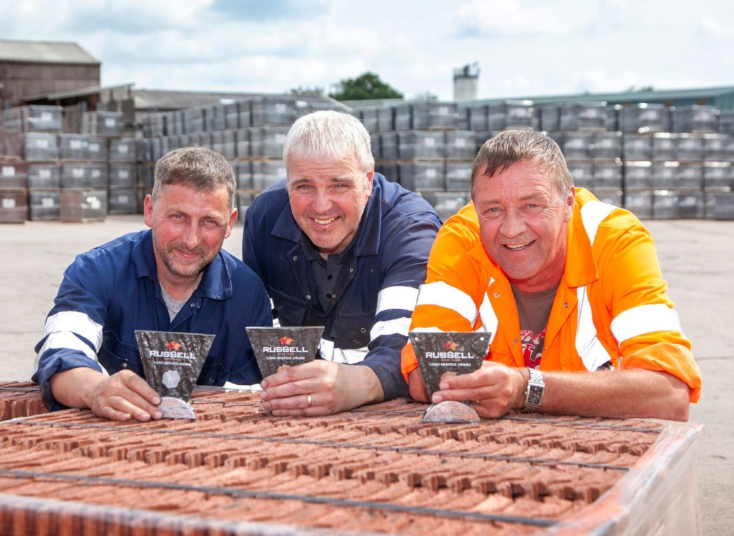 Trio Celebrate 60 Years Service At Russell Roof Tiles