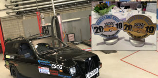 Team Chandlers and Cembrit finished in first place and won best dressed car at the recent Pavestone Rally