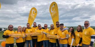 Willmott Dixon pledges to raise £95,000 for Chestnut Tree House this year. The team above took part in the skydive fundraiser.