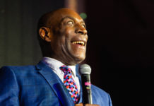 Top class sporting celebrities from the world of boxing and rugby spoke at the event, including boxing legend Frank Bruno