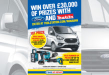 Toolstation's 'Win a Van' prize draw is now live for entries, with the top prize being a Ford Transit Custom van worth over £26,000, plus £4,000 worth of Makita tools!