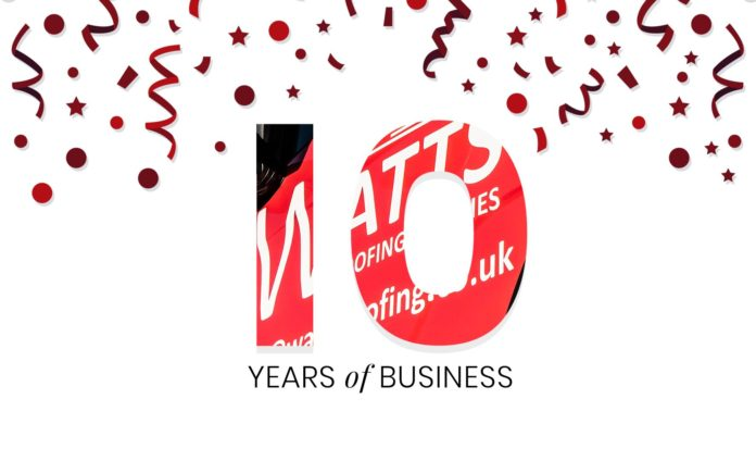 Watts Roofing Supplies is celebrating its 10-year anniversary this year