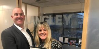Nicola Jefferies, head of administration, quality and compliance at Langley Waterproofing Systems with Daren Fraser, head of technical at Langley Waterproofing Systems