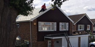 The director of G&S Roofing has been handed a suspended jail sentence after a Health and Safety Executive inspector spotted unsafe work on a roof