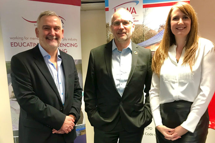 Left to right: Dr Ronan Brunton, technical manager at SPRA, Hardy Giesler (BBA) and Sarah Spink (LRWA)