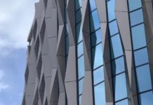 Bespoke 3D twisted fins from Metalline have been used on the Minories Hotel in London