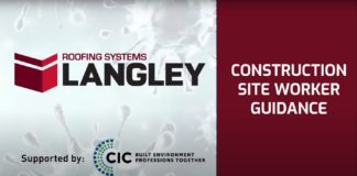 Langley Roofing Systems has produced a short video demonstrating safe and responsible operating procedures for workers on construction sites that are currently open