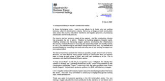 The letter from Rt Hon Alok Sharma MP