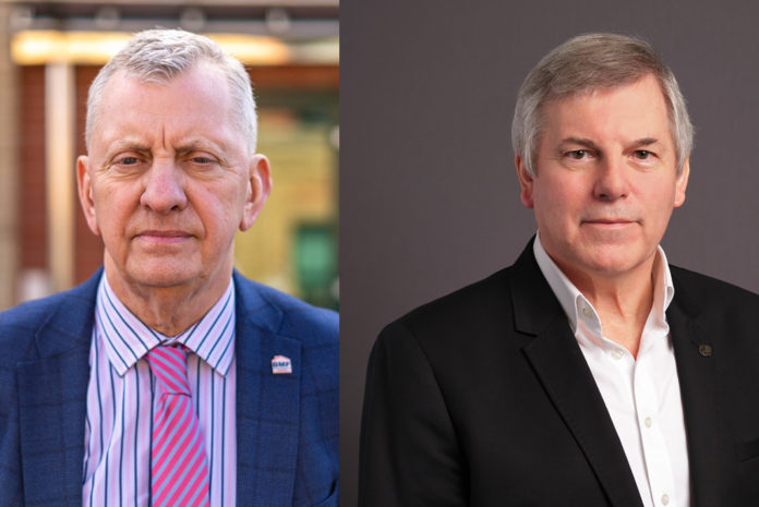 Left to right: John Newcomb, chief executive of the BMF and Peter Caplehorn, chief executive of the CPA