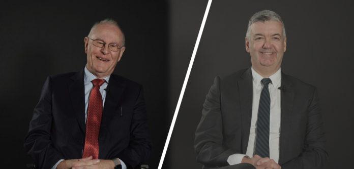Left to right: Tony Walsh and Aidan Harte
