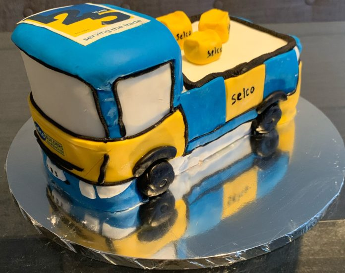 One of the entries: A Selco lorry made out of cake