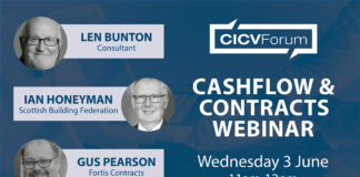 The Cashflow & Contracts webinar will be held on 3 June, 2020