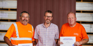 Left to right: Phil Joslin, Tony Hobbs and Mick Stevens