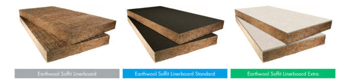 The full Earthwool Soffit Linerboard range from Knauf Insulation