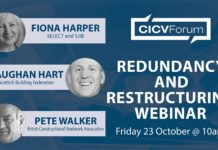 The CICV Forum's webinar on 23 October will focus on redundancy and restructuring