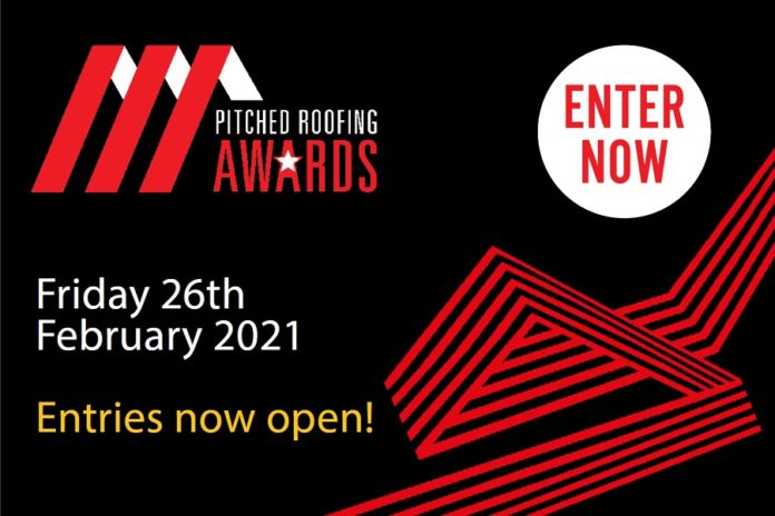 The closing date to enter the Pitched Roofing Awards is Friday 6 November
