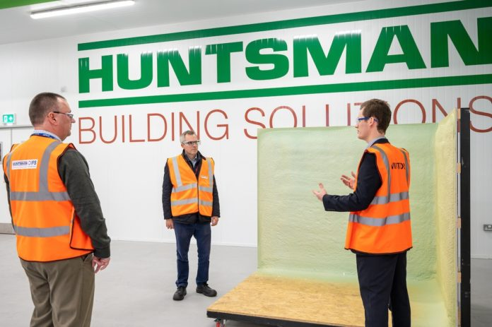 Left to right: James Wild MP meets members of the Huntsman Building Solutions team
