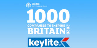 Keylite Roof Windows has been identified as one of the 1,000 Companies to Inspire Britain 2020 by the London Stock Exchange Group