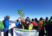 Ian Dryden, national specification manager for SIG, scaled Mount Kilimanjaro in aid of raising much-needed funds for the Samaritans
