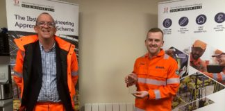 Ibstock has crowned James Dowson (right) as its Apprentice of the Year