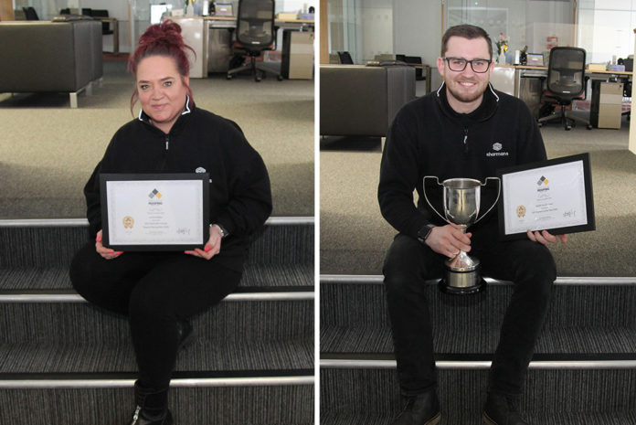 Janice Bailey and Garath Buckingham have been awarded by the Institute of Roofing for completing the Institute's Associate Course