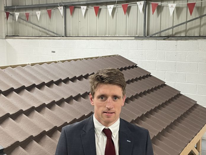 John Dervey has been appointed as sales executive at Russell Roof Tiles