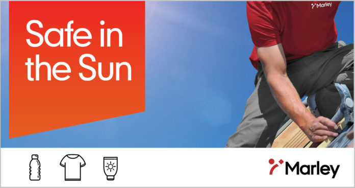 Marley is offering a Safe in the Sun kit, featuring a branded t-shirt, sunscreen and water bottle – everything you need to cover up, use sunscreen and hydrate whilst on-site.